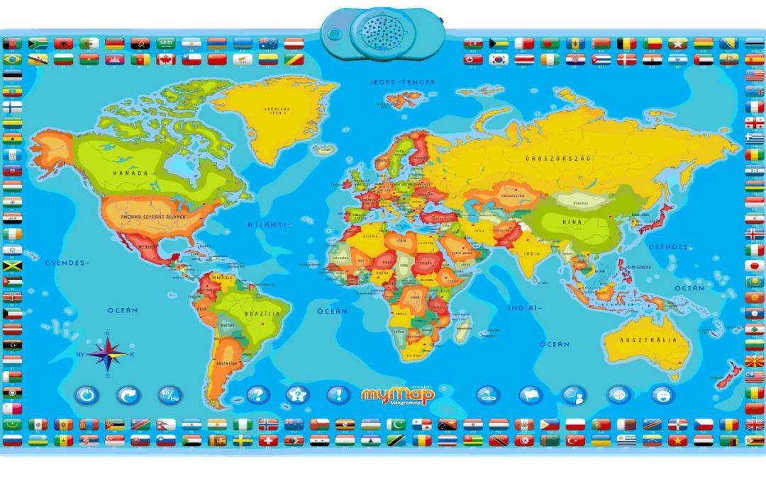 Újdonság otthonra vagy az iskolába – Az én interaktív térképem