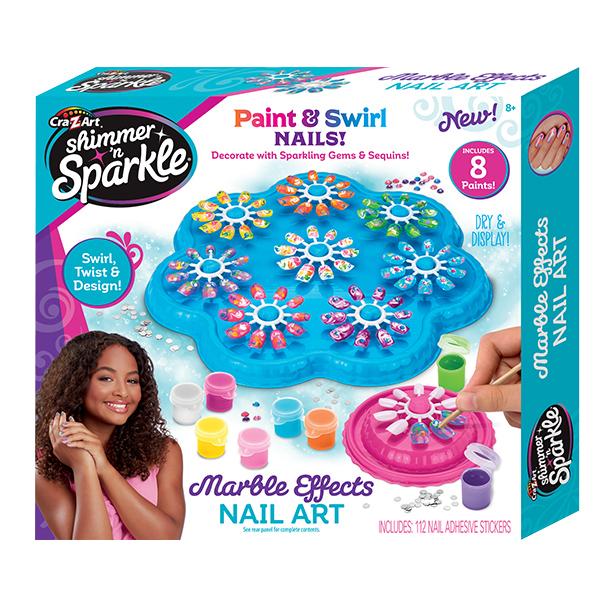 Shimmer and Sparkle – Márványos köröm